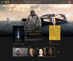 Dribbble - IMDb_Layout_Interstellar.png by Thiago Barcelos