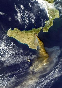 Etna in eruption.