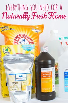 Tired of harsh chemicals in your home? Here are the ingredients for a Naturally Fresh Home. BONUS: Free Printable Pantry List!