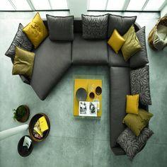 Rolf Benz Onda Sofa by Christian Werner - Chaplins Sofa Furniture, Furniture Plans, Living Room Furniture, Furniture Design, Living Room Sofa Design, Furniture Factory, Single Sofa, Piece A Vivre, Corner Sofa
