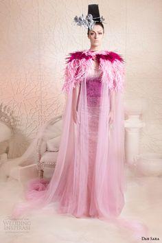 dar sara 2014 couture pink dress floor length jacket