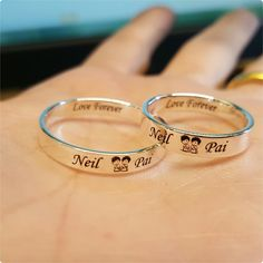 Engraved rings price 399 each any words of your choice can be inscribed inside and outside all sizes available To order whtsapp or dm us the picture and what you want to mention on the ring No cash on delivery mode of payment bank transfer paytm Leaf Engagement Ring, Designer Engagement Rings, Gold Wedding Rings, Engraved Rings, Bridal Jewelry Sets, Birthstone Jewelry, White Gold Diamonds, Ideias Fashion, Like4like