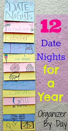 12 Date Nights For A Year! Great idea!