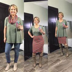 LuLaRoe Perfect T & Cassie Skirt