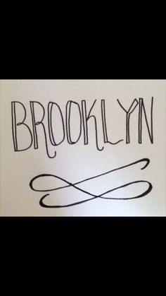Brooklyn Hand Lettering Calligraphy Video, Art Projects For Teens, Hand Lettering Alphabet, Bullet Journal Spread, Handwriting, Cookies Et Biscuits, Cool Art, Easy, Typography