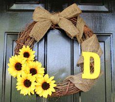 Custom Grapevine Wreath by CreationsbyKelseyy on Etsy, $25.00