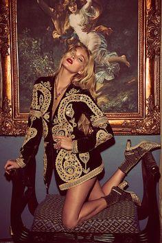 Elsa Hosk photographed by Zoey Grossman for Love & Lemons Holiday 2016 Campaign. Look Fashion, Denim Fashion, Fashion Brand, Runway Fashion, Fashion Outfits, Womens Fashion, Workwear Fashion, Fashion Blogs, Party Fashion