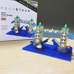 タワーブリッジ 難易度3にしてはめんどくさかった(笑) #ナノブロック #タワーブリッジ #nanoblock #UK #TowerBridge