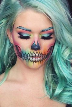 Halloween Make-up kreative Ideen