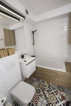 Płytki cementowe w polskiej łazience