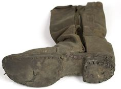 A Soldier's Boot from Gettysburg- They were so valuable they were even pulled from the feet of dead men on the bloodstained battlefields and were used by prisoners to barter for supplies such as food or tobacco.