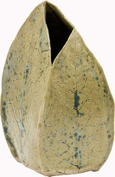 Ceramics by Joan Hardie at Studiopottery.co.uk - Comfrey pod vase, 2008.