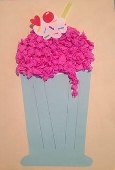 Paper plate milkshake