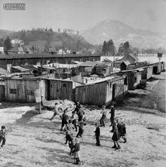 Wohnbaracken in Salzburg Salzburg, Austria, Postwar, Ww2, World War Two, Pictures, Historical Pictures, Kids, Post War Era