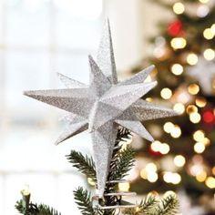 Suzanne Kasler Glittered Star Tree Topper | Ballard Designs