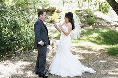 ranch wedding, first look, the retro ranch, pure lavish events, mandilynn photography, bride, groom