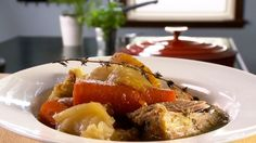 Recettes Solution Gourmande, Dutch Oven, Pork Recipes, Baked Potato, Food And Drink, Beef, Meals, Fork, Ethnic Recipes