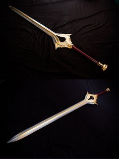 Quinn and Xander.Fire Emblem: Awakening - Life sized Falchion for cosplay by hardworkguts Ninja Weapons, Anime Weapons, Weapons Guns, Fantasy Sword, Fantasy Armor, Fantasy Weapons, Swords And Daggers, Knives And Swords, Gate Of Babylon
