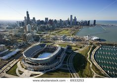 Photo about Aerial view of Chicago, Illinois skyline with Soldier Field. Image of tourism, color, high - 3610498 Fifa World Cup Game, South Side Chicago, Nfl Stadiums, Soldier Field, Chicago Skyline, Chicago Trip, My Kind Of Town, Chicago Illinois, Sports