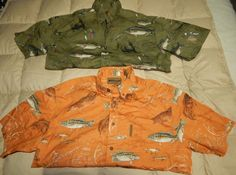 LOT OF 2 MENS FISHING OUTDOOR SHIRT MAGELLAN SPORTSWEAR SZ L  SS  ,BASS ,LURE #MAGELLANSPORTSWEAR #ButtonFront