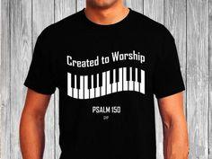 Created to Worship Piano - Christian T-Shirt - Christian Apparel - Faith Shirt - Religious Shirt Christian Clothing, Christian Shirts, Christian Apparel, Logos Retro, Shirts With Sayings, Worship, Tee Shirts, Diy Shirt, Shirt Designs