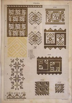 Ac&Arta: Motive traditionale vechi - Culese de Elisa I. Types Of Embroidery, Folk Embroidery, Embroidery Patterns, Cross Stitch Patterns, Simple Cross Stitch, Pattern Books, Cross Stitching, Blackwork, Diy And Crafts
