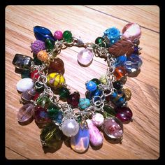 HANDMADE VINTAGE & NEW CHARMS BRACELET Made from mixed materials. Handmade and vintage beads. Jewelry Bracelets