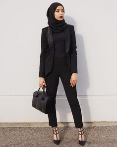 Office Look Formal Hijab - Office Hijab Casual, Hijab Chic, Islamic Fashion, Muslim Fashion, Hijab Office, Outfit Office, Office Wear, Hijab Mode Inspiration, Trendy Fashion