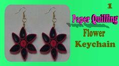 paper quilling flower keychain