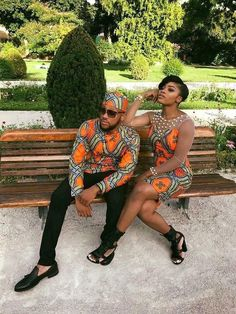 Best of Ankara Styles for Couples at Diyanu Couples African Outfits, African Clothing For Men, African Attire, African Wear, African Dress, African Suits, African Clothes, Latest African Fashion Dresses, African Men Fashion