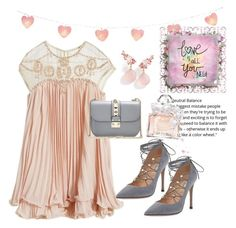 """""""Love is all you need 💕💕"""" by fashion-euphoria ❤ liked on Polyvore featuring WithChic, Valentino, Love Quotes Scarves, Brumani, Guerlain and DateNight"""