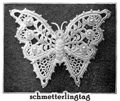 crochet 2014 patterns | Irish Lace Book Butterflies Purses Crochet Pattern 1912 For Sale