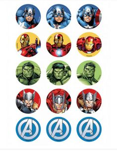 CAKE - Avengers A Team cupcake edible icing 15 toppers