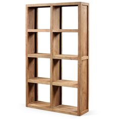 MACHU BOOKSHELF - 8 COMPARTMENTS  Material: 100% Solid Reclaimed Teak Wood  We have more than 100 products on our website. Check it now !  https://www.teakvogue.com/