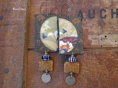 Boucles d'oreille vintagebohème Sur les docks par rareetsens