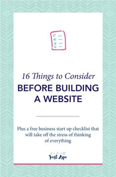 16 Things to Consider Before building a Website   As a new business owner, there are a lot of things that you need to keep in mind when you plan to build your website. It is important that you do not have too many plugins, this might slow down your website. You got to optimise your images and content so that they are SEO friendly and most importantly, you've got to make sure that you are consistent with your design and personality of your brand. I put together this blog post so that you…