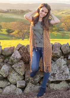 Hopeful Honey | Craft, Crochet, Create: Whispering Birch Bohemian Vest - Free Crochet Pattern
