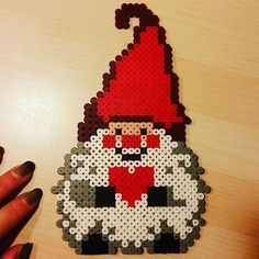 Christmas gnome hama beads by  juwely