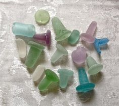 Sea Glass bottle stoppers from the late 19th and early 20th centuries, New Brunswick, Canada