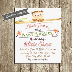 Rustic Baby Shower invitation printable Gender by DorindaArt