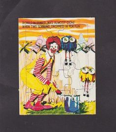 1978 Ronald McDonald Puzzle by WildGooseChase on Etsy, $1.99