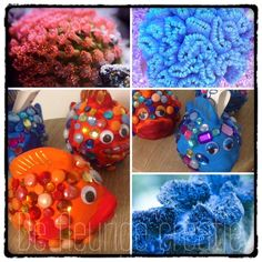 #kinderfeestje #mozaiek #spaarpot #vis #creatiefkinderfeestje