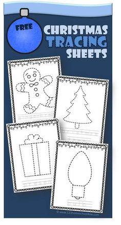 FREE Christmas Tracing Sheets - these 13 pages of Christmas themed tracing sheets are a great way for toddler, preschool, and kindergarten age kids to practice prewritting skills as they strengthen their fine motor skills.