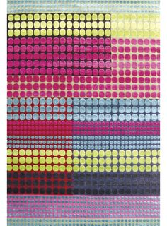 Levack Rug. £3,200. The Levack design is a fluorescent blend of pink, lime, blue and purple.