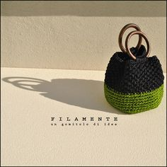 Crochet Patterns Techniques MINI-BAG with wooden handles. Made entirely by hand with crochet technique. Crochet Clutch, Crochet Handbags, Crochet Purses, Crochet Designs, Crochet Patterns, Crochet Patron, Finger Knitting, Macrame Bag, Tapestry Crochet