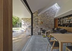 Andrew Burges Architects | Skylight House NSW | 2014 House Awards Winner alteration and addition over 200sqm; reconfiguration of a Californian bungalow #brick and #daylight