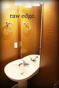 diy bathroom mirror