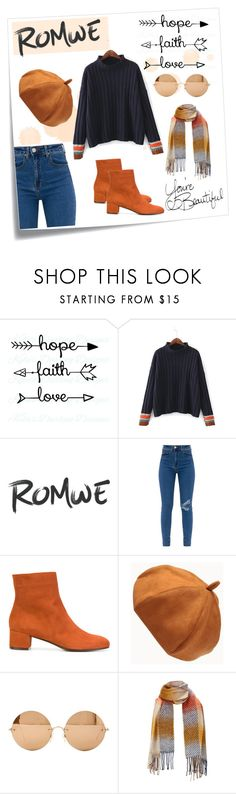 """""""Trim Sweater"""" by samy-lady ❤ liked on Polyvore featuring Post-It, WithChic, L'Autre Chose and Victoria Beckham"""