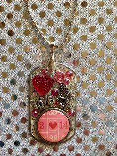 Adorable Valentine's Day Dog Tag Pendant by KsPeddlers on Etsy www.facebook.com/Washerwear