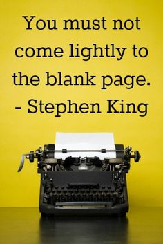 You must not come lightly to the blank page - nextstepediting.com
